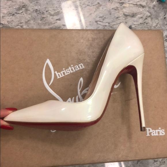 45bcde977442 Christian Louboutin Shoes - Christian Louboutin White Ab So Kate